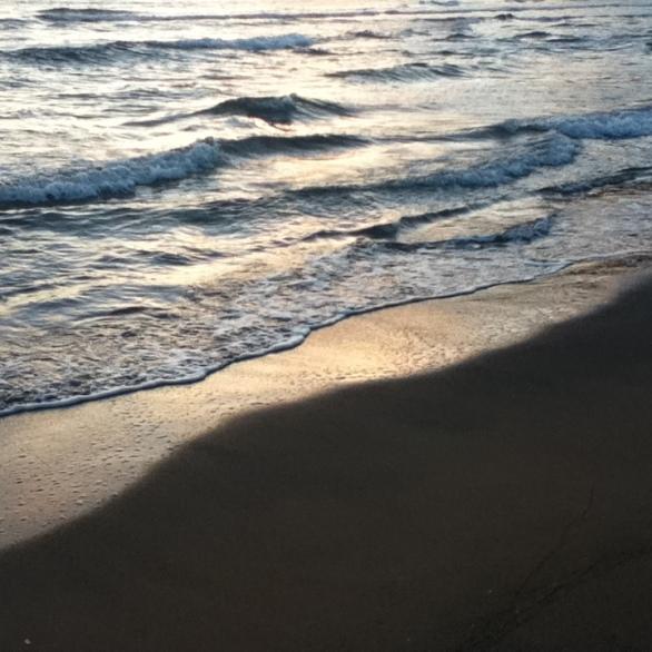 Spiaggia di Porto Ferro al tramonto