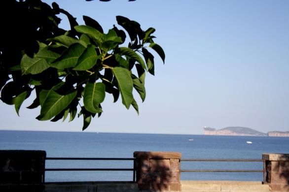 Vista di Capo Caccia dal Lungomare Dante