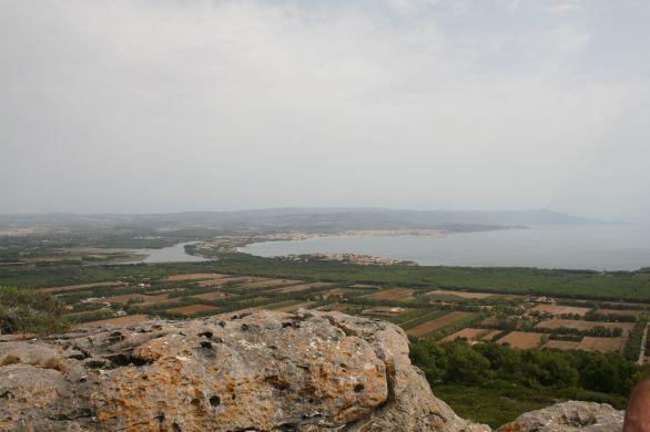 Vista della rada di Alghero da Monte Doglia