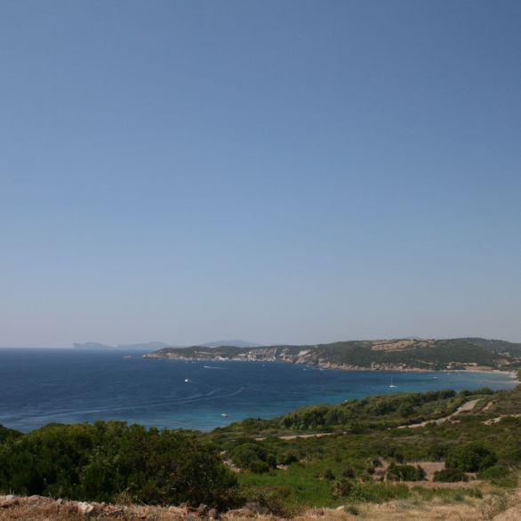 Vista di Alghero dalla strada per Villanova