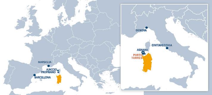 Collegamenti via mare con Porto Torres